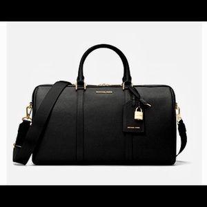 Michael Kors Large Leather Jet Set Weekender Bag